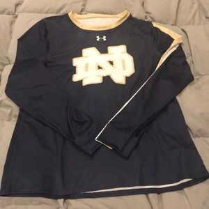 Womens Under Armour Notre Dame Top